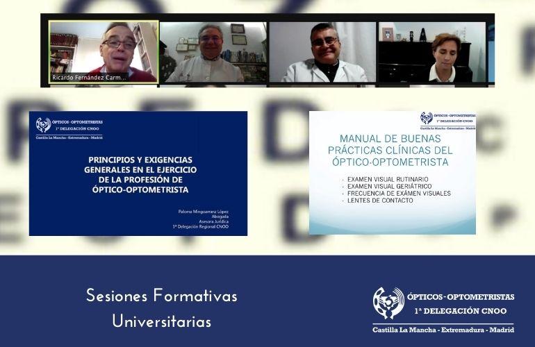 Sesiones Formativas para Alumnos del Grado de Óptica Optometría 2021